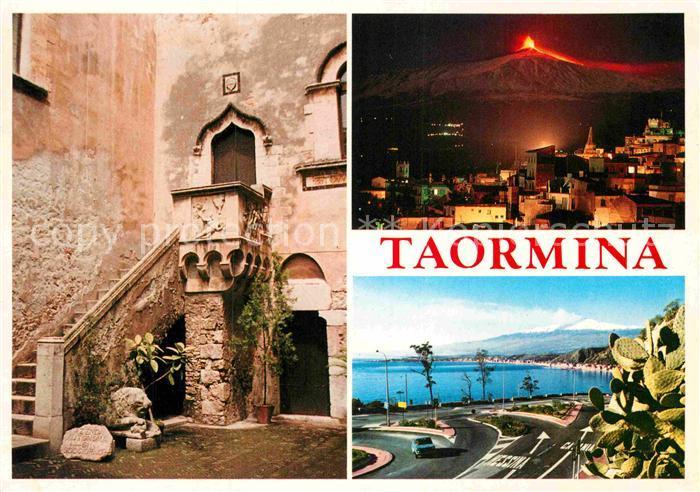 AK / Ansichtskarte Taormina Sizilien Teilansicht aetna  Kat.