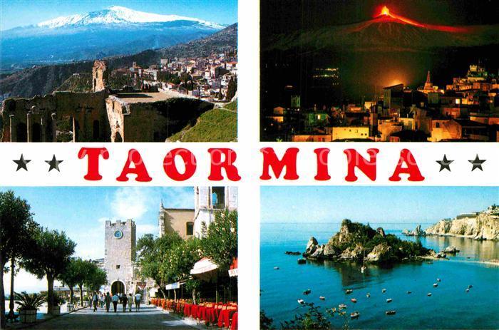 AK / Ansichtskarte Taormina Sizilien aetna Burg Panorama  Kat.
