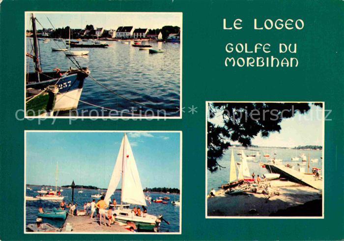 AK / Ansichtskarte Le Logeo Port dans le Golfe du Morbihan Bateaux a voile Plage