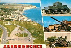 AK / Ansichtskarte Arromanches les Bains Vue generale aerienne Vestiges du debarquement du 6 juin 1944 Kat. Arromanches les Bains