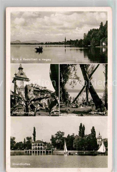 AK / Ansichtskarte Radolfzell Bodensee Hegau Scheffelmuseum Strandbad Kat. Radolfzell am Bodensee