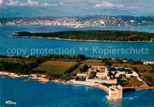 AK / Ansichtskarte Ile Saint Honorat Alpes Maritimes Abbaye de ND de Lerins Vue aerienne