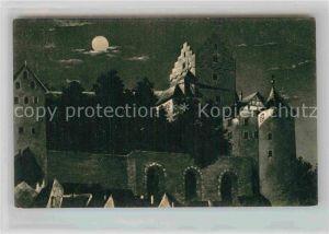 AK / Ansichtskarte Meersburg Bodensee Altes Schloss Mondschein Kat. Meersburg