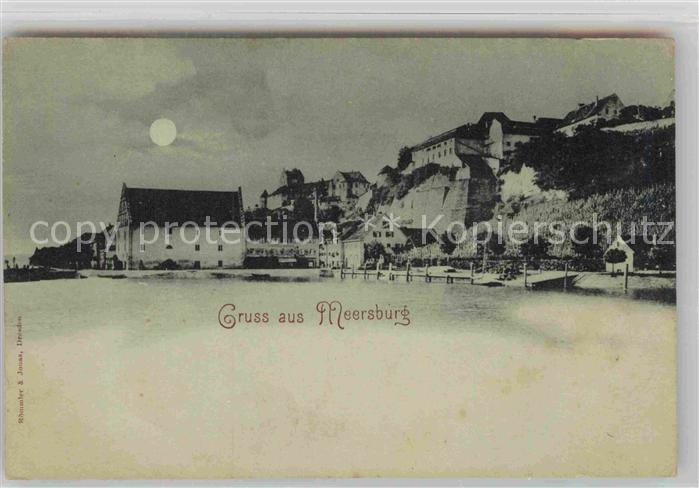 AK / Ansichtskarte Meersburg Bodensee Schloss Mondschein Kat. Meersburg