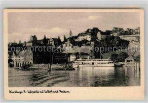 AK / Ansichtskarte Meersburg Bodensee Uferpartie Schloss Residenz Kat. Meersburg