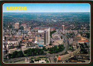 AK / Ansichtskarte Leipzig Fliegeraufnahme Messestadt Kat. Leipzig