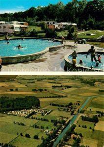AK / Ansichtskarte Barssel Campingplatz Elisabethfehn Swimming Pool Fliegeraufnahme Kat. Barssel