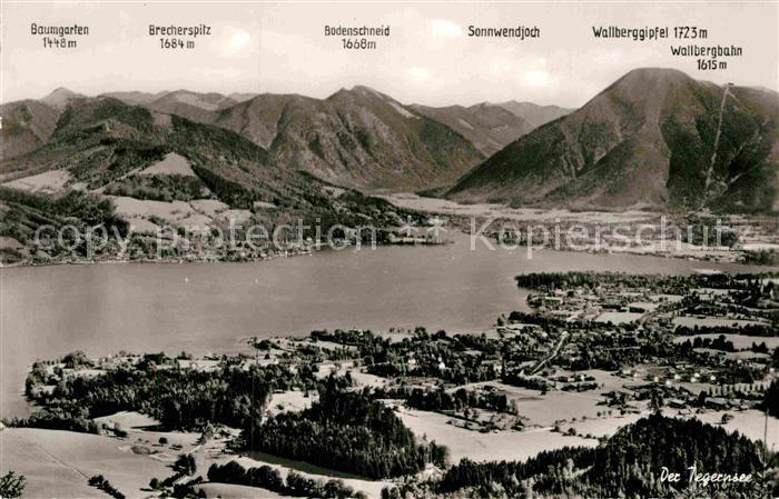 AK / Ansichtskarte Tegernsee Alpenpanorama Fliegeraufnahme Kat. Tegernsee