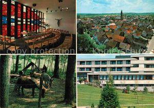 AK / Ansichtskarte Muenzesheim Therapiezentrum Tiergehege Kirche Innenansicht Kat. Kraichtal