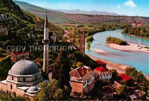 AK / Ansichtskarte Pocitelj Fliegeraufnahme mit Flusspartie