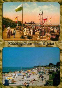 AK / Ansichtskarte Kuehlungsborn Ostseebad Strandleben einst und jetzt Kat. Kuehlungsborn