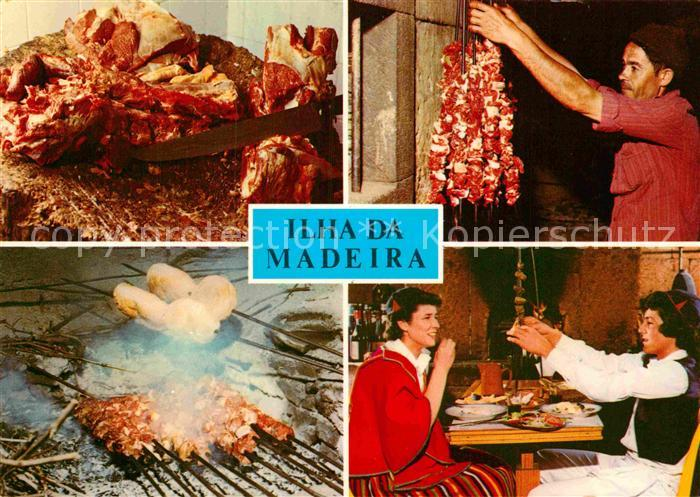 AK / Ansichtskarte Ilha da Madeira Restaurant tradicional espetada