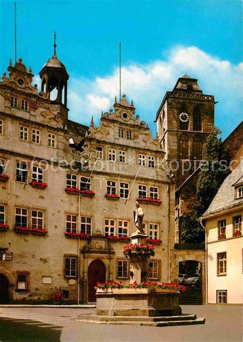AK / Ansichtskarte Bad Hersfeld Brunnen mit Rathaus Kat. Bad Hersfeld