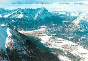 AK / Ansichtskarte Garmisch Partenkirchen Grainau Eibsee Hammersbach Burgrain Kat. Garmisch Partenkirchen
