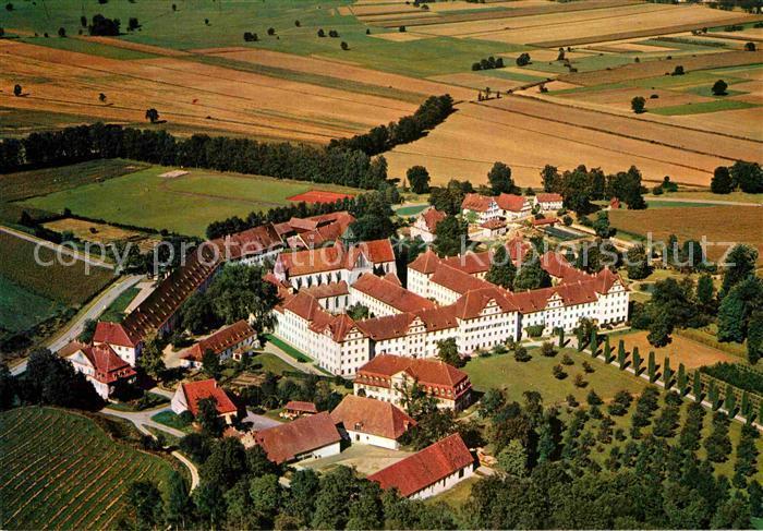 AK / Ansichtskarte Salem Baden Markgraefliches Schloss und Schloss Schule Fliegeraufnahme Kat. Salem