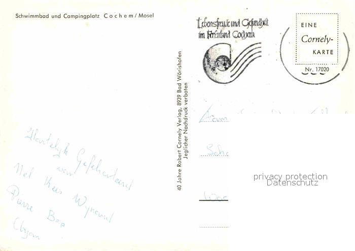 Mosel Karte Mit Allen Orten.Ak Ansichtskarte Cochem Mosel Schwimmbad Und Campingplatz Cornely Karte Nr 17020 Kat Cochem