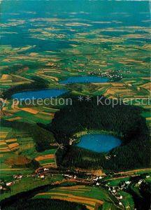 AK / Ansichtskarte Daun Eifel Gemuendener Maar Weinfelder Maar Schalkenmehrener Maar Fliegeraufnahme Kat. Daun