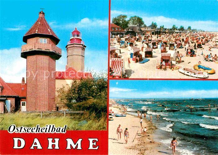 AK / Ansichtskarte Dahme Ostseebad Wasserstrand Leuchtturm Strand Kat. Dahme