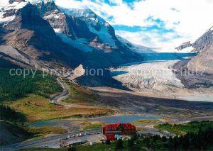 AK / Ansichtskarte Alberta  Canadian Rockies Columbian icefields aerial view Kat. Kanada