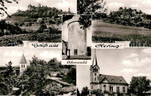 AK / Ansichtskarte Hering Odenwald Schloss Turm Kirche Kat. Otzberg