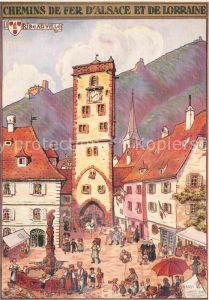 AK / Ansichtskarte Hansi Chemins de Fer d Alsace et de Lorraine Ribeauville  Kat. Kuenstlerkarte