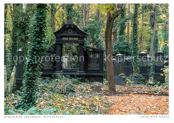 AK / Ansichtskarte Judaika Juden Judentum Juedischer Friedhof Weissensee Isaac Seeliger  Kat. Religion