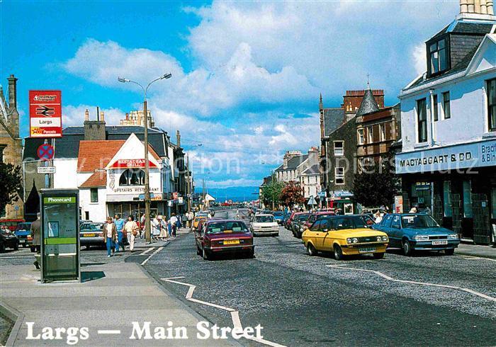 AK / Ansichtskarte Largs Main Street Kat. North Ayrshire mainland