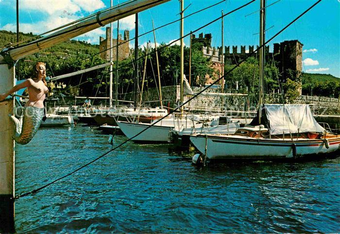 AK / Ansichtskarte Torri del Benaco Lago di Garda Il Porto Kat. Lago di Garda