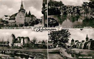 AK / Ansichtskarte Ratingen Katholische Kirche Alter Wehrgang Haus zu Haus  Kat. Ratingen