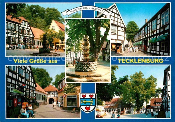 AK / Ansichtskarte Tecklenburg Brunnen Tor Haus des Gastes Marktplatz Kat. Tecklenburg