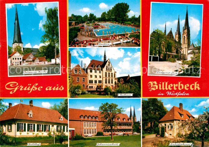 AK / Ansichtskarte Billerbeck Westfalen Freibad dom Rathaus Archidiakonat Richthof Kat. Billerbeck