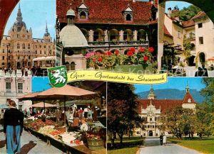 AK / Ansichtskarte Graz Steiermark Gartenstadt Hauptplatz Landhaushof Krebsenkeller Schloss Eggenberg Kat. Graz