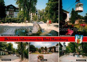 AK / Ansichtskarte Bad Harzburg Bummelallee Brunnen Burgberg Seilbahn  Kat. Bad Harzburg