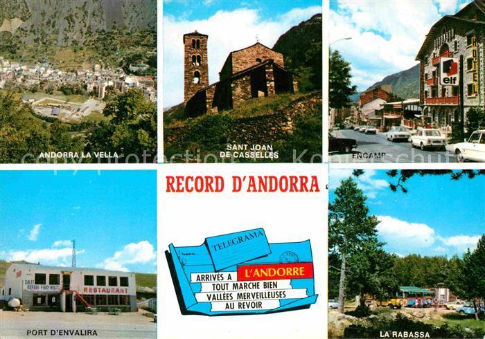 AK / Ansichtskarte Andorra Diversos aspectos Andorra la Vella Sant Joan de Casselles Encamp La Rabassa Port d Envalira Kat. Andorra