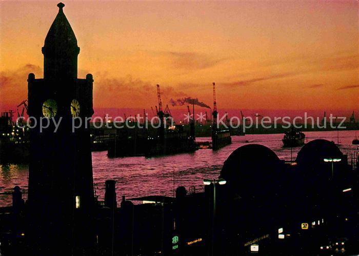 AK / Ansichtskarte Hamburg Hafen am Abend Kat. Hamburg