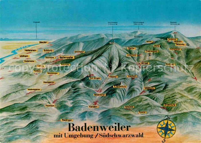 AK / Ansichtskarte Badenweiler und Umgebung Schwarzwald aus der Vogelperspektive Kat. Badenweiler