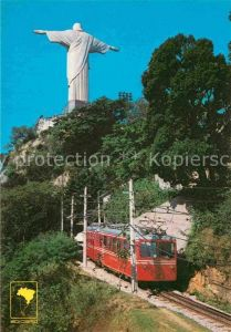 AK / Ansichtskarte Bergbahn Brasil Rio de Janeiro Subida de trenzinho Corcovado Kat. Bergbahn
