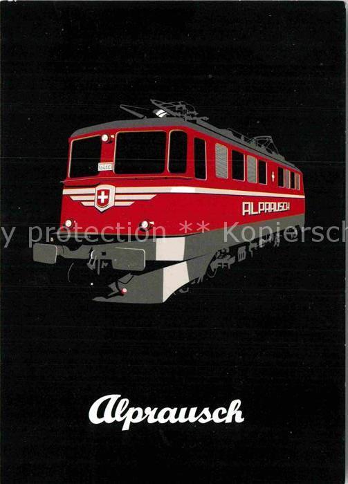 AK / Ansichtskarte Eisenbahn Alprausch Schweiz Kat. Eisenbahn