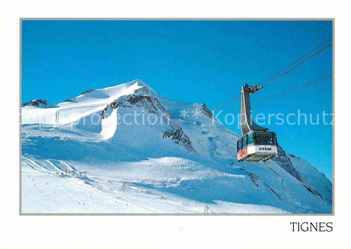 AK / Ansichtskarte Seilbahn Tignes La Grande Motte Savoie  Kat. Bahnen