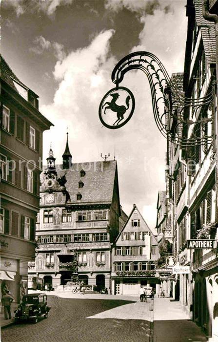AK / Ansichtskarte Tuebingen Marktplatz Rathaus Kat. Tuebingen