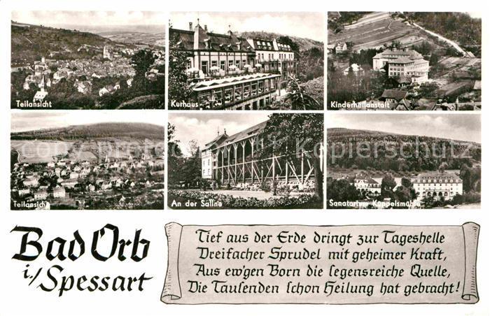 AK / Ansichtskarte Bad Orb Saline Sanatorium Kueppelsmuehle Kinderheilanstalt  Kat. Bad Orb
