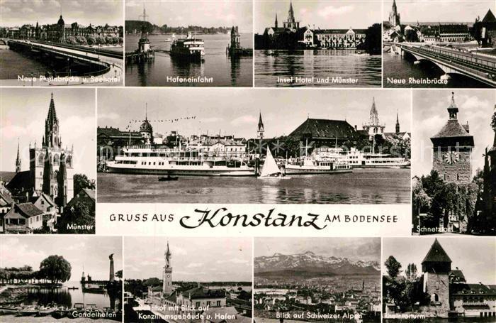 AK / Ansichtskarte Konstanz Bodensee Schnetztor Insel Hotel Muenster  Kat. Konstanz