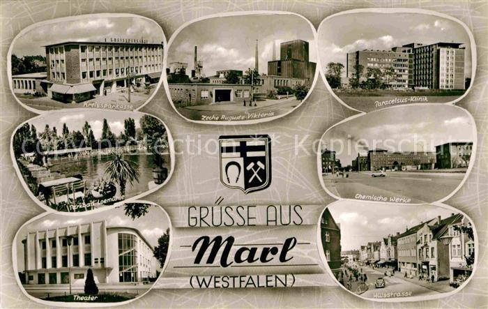 AK / Ansichtskarte Marl Westfalen Zeche Auguste Viktoria Chemische Werke Huelsstrasse Kat. Marl