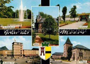AK / Ansichtskarte Moers Rathaus Schlosspark koenigl. Hof Schloss  Kat. Moers