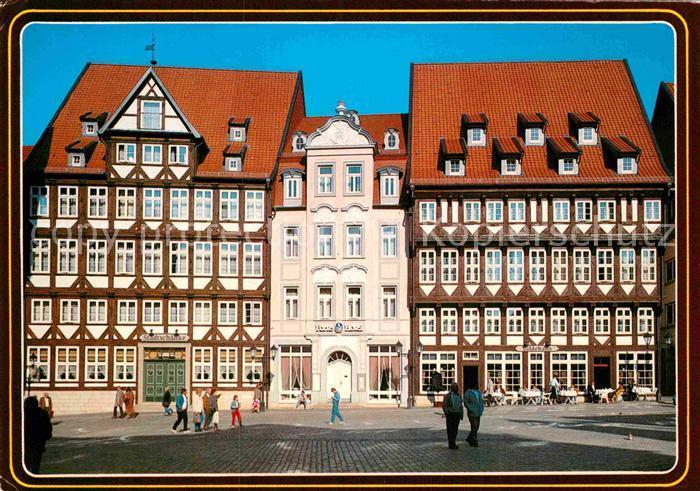 AK / Ansichtskarte Hildesheim Marktplatznordseite Stadtschaenke ...
