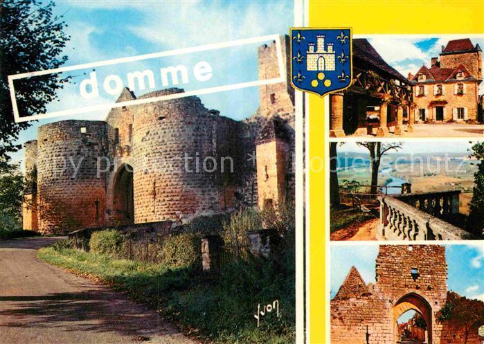 AK / Ansichtskarte Domme Anciennes Halles Maison du Gouverneur Porte Delbos  Kat. Domme