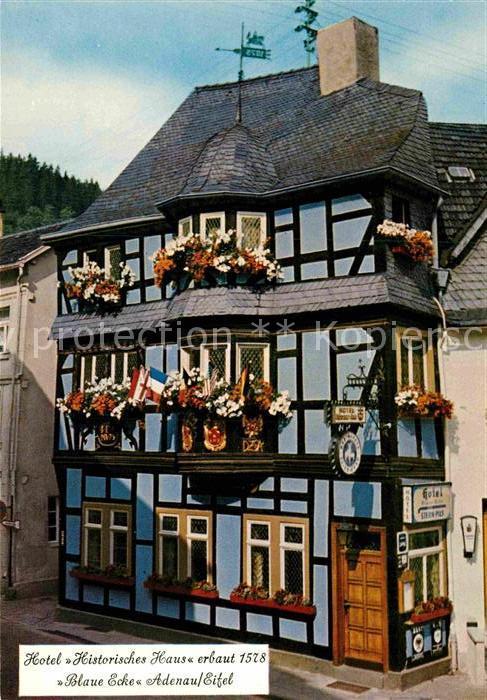 AK / Ansichtskarte Adenau Hotel Blaue Ecke Fachwerk Kat. Adenau