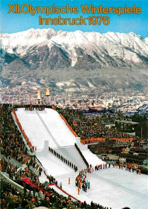 AK / Ansichtskarte Olympia XII. Olympische Winterspiele Innsbruck Eroeffnungsfeier  Kat. Sport