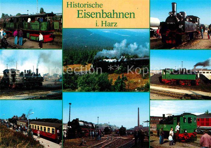 AK / Ansichtskarte Lokomotive Historische Eisenbahnen Harz Kat. Eisenbahn