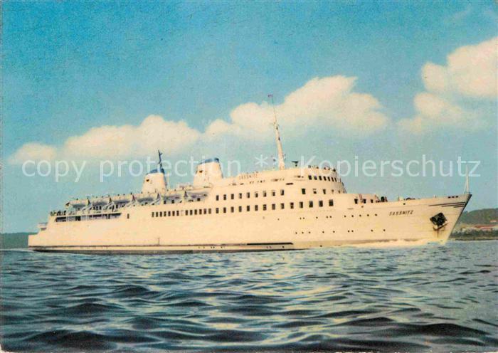 AK / Ansichtskarte Faehre Eisenbahnfaehrschiff Deutsche Reichsbahn MS Sassnitz Kat. Schiffe